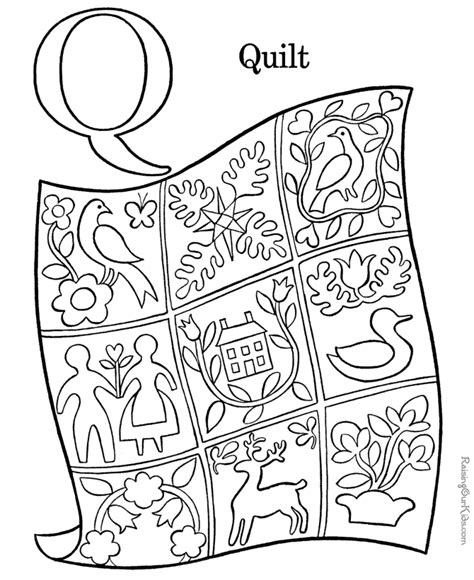 Q For Quilt Coloring Page by Coloring Activity Pages Quot Q Quot Is For Quot Quilt Quot Coloring Page