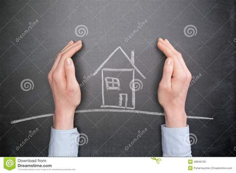 home protect house insurance house insurance and protection stock photo image 48846100