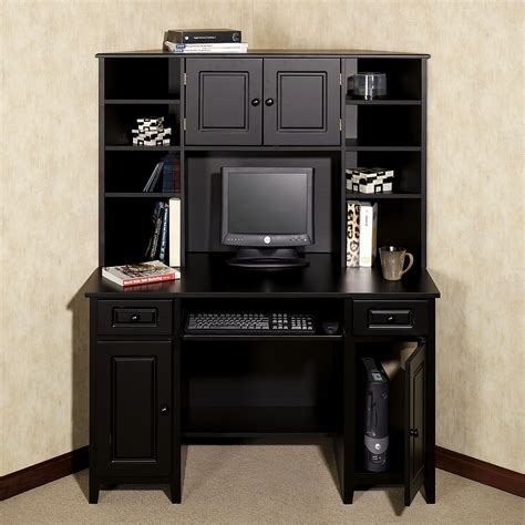 narrow desk with hutch corner desk units for home office com with bedroom unit