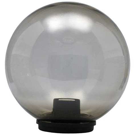 elco modular outdoor globe light 300mm smoked globe