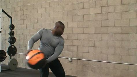 crossfit wall ball exercises side throw tutorial youtube