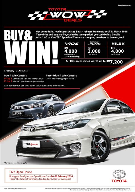 toyota new year promotion 2015 new year promotions from umw toyota autoworld my