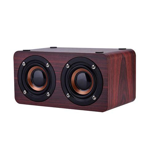 Speaker Bluetooth Wireless Bass Fm Radio T2 wireless bluetooth speaker bass fm radio stereo wooden dual loudspeaker dy ebay