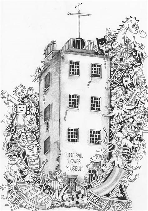 doodle tower doodle tower doodle coloring pages colouring