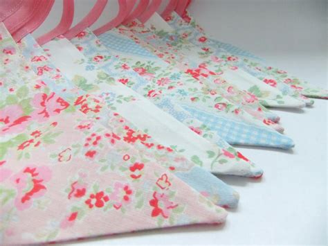 pretty shabby chic party bunting caths flowers in pink