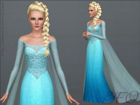 elsa sims 3 my sims 3 blog frozen and ice princess dress and