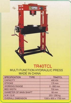 Mesin Bor Portable Multi Guna tr40tcl multi function hydrolic press products of mesin