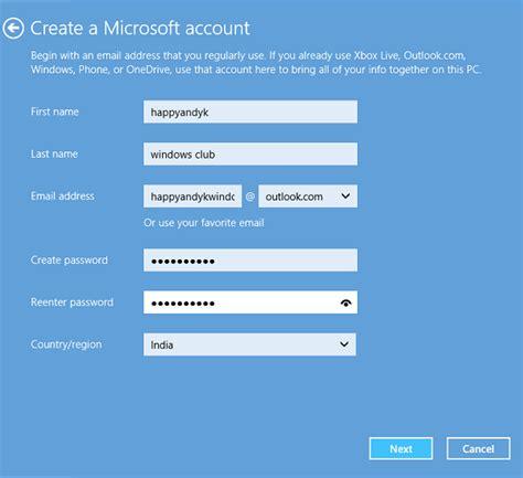 create account create a new user account in windows 8 1