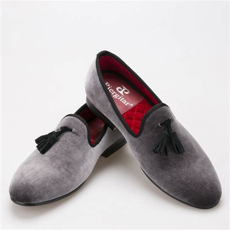 new style loafers 2016 new style handmade loafers gray velvet shoes with