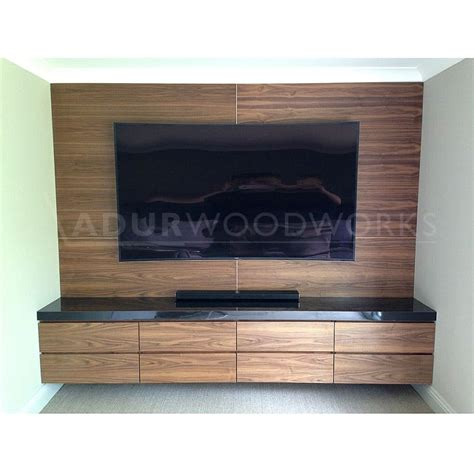 media wall fitted tv media wall unit adur woodworks