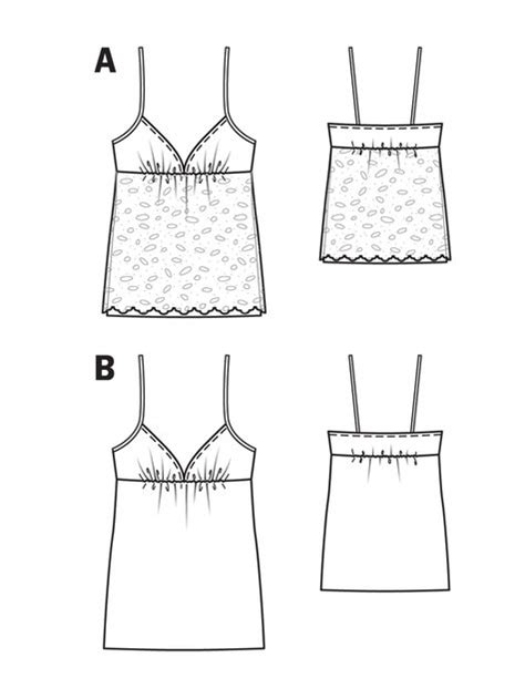 pattern templates from issue 40 sew hip lace camisole 07 2013 115a sewing patterns burdastyle com