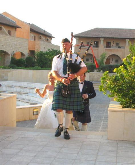 Wedding Aisle Bagpipes by Cyprus Wedding Arrangements