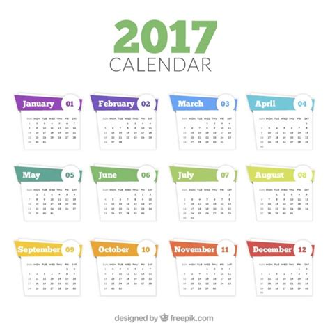 Calendã 2017 Feriados Sp 2017 Calendar Template In Abstract Style Vector Free