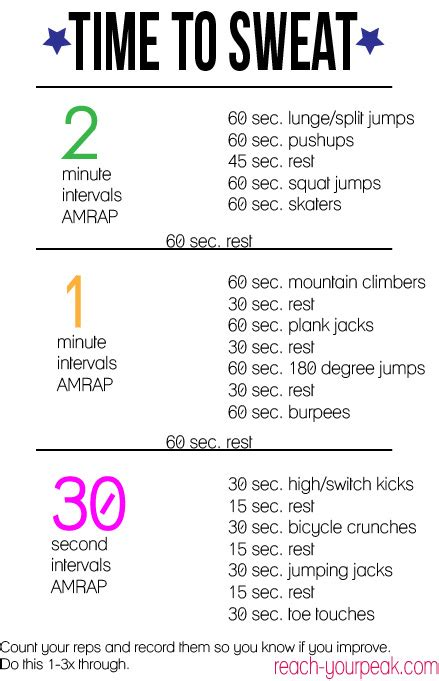 work out plan at home wednesday workout challenge reach your peak