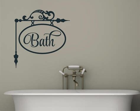 bathroom vinyl wall art bath bathroom decor vinyl decal wall sticker words