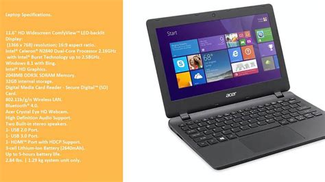 Laptop Acer Es 11 review discount acer aspire e 11 es1 111m c40s 11 6 inch laptop black