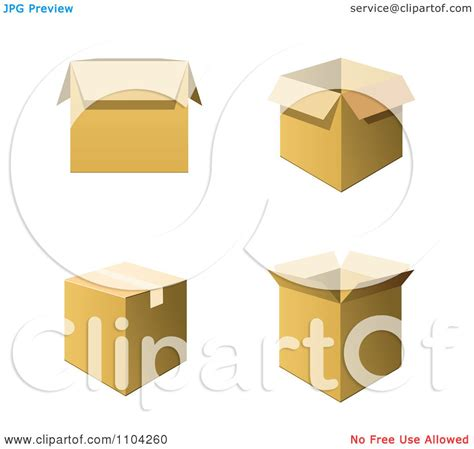 moving clipart clipart 3d cardboard shipping or moving boxes royalty