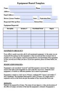10 best images of equipment rental agreement template free