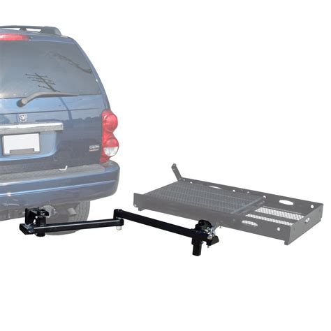 swing away hitch cargo carrier hitch mount scooter carrier swing away for sc v2 racks ebay