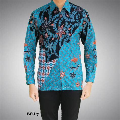Kemeja Kerja Pria Tangan Panjang Arrow Original 7 kemeja batik pria lengan panjang kode bpj 7 batik prasetyo