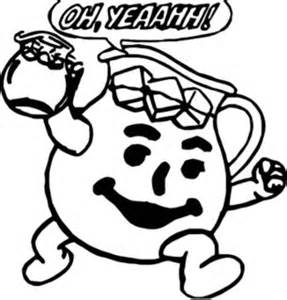 kool aid coloring pages coloring pages