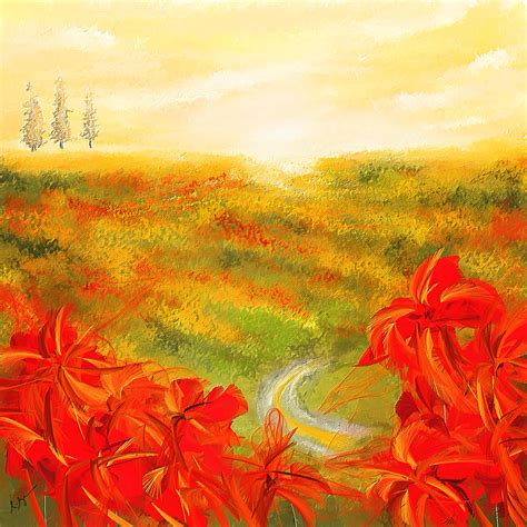 how to brighten acrylic paint on canvas towards the brightness fields of poppies painting
