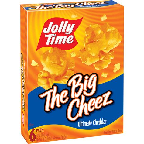 jolly time  cheddar ultimate cheez big microwave