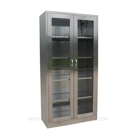 metal bookcase with glass doors stainless steel bookcase with glass door buy stainless