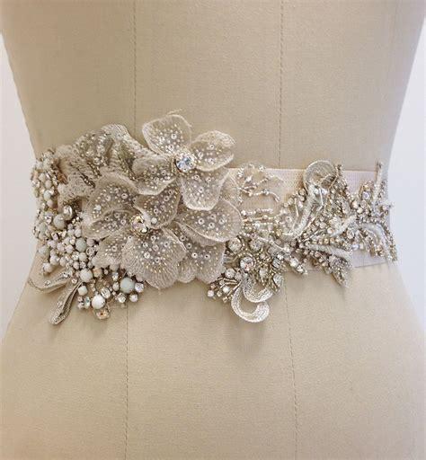 erin cole bridal belts sashes beaded bridal sash