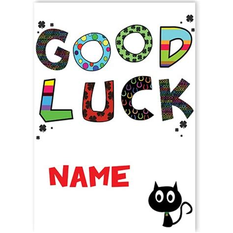 luck card template luck quickclickcards