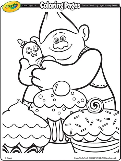 biggie and the disastrous dreamworks trolls books trolls biggie and mr dinkles coloring page crayola