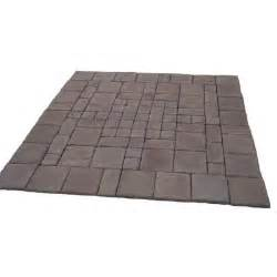Home Depot Pavers Patio by Cass Stone 100 Sq Ft Brown Concrete Paver Kit Cassb