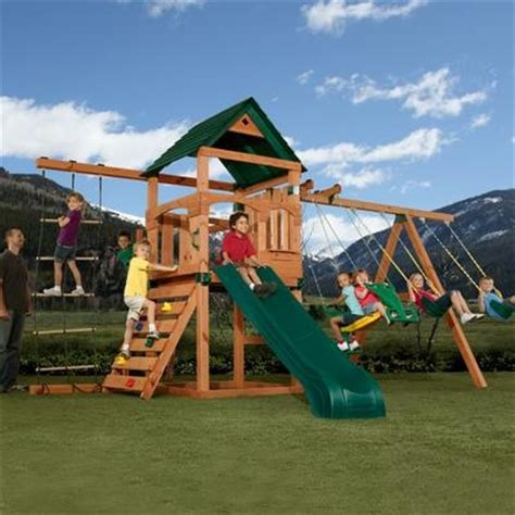 Backyard Swing Sets Canada by Pin By On Backyard Playsets