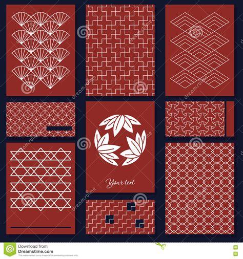 japanese panel card templates japanese sashiko motif business card template asian