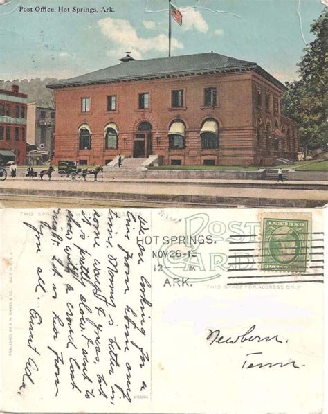 wic office hot springs ar ar genweb project garland county photographs postcards