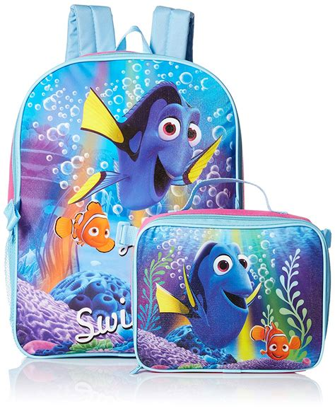 disney finding dory backpack with lunch bag 6 25
