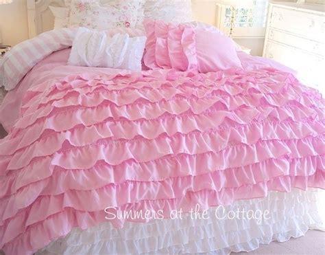 ruffle twin bedding twin xl dorm room bedding dreamy pink ruffles shabby