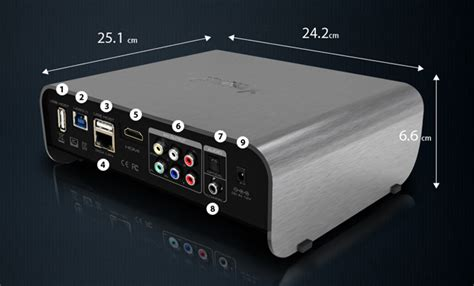 Xtreamer Prodigy Silver With Wifi Built In xtreamer prodigy media player offers flash gui usb 3 0 and opera browser