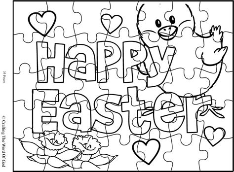 printable easter jigsaw puzzles happy easter 2 puzzle activity sheet 171 crafting the word