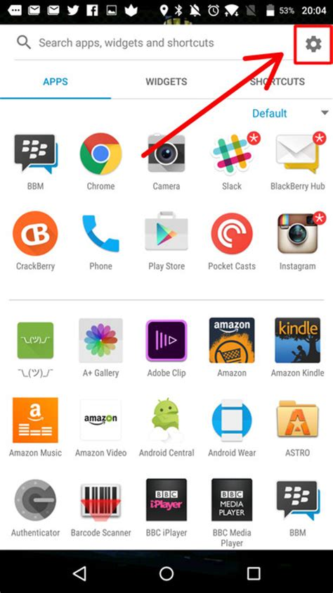 Launcher App Drawer Icon by How To Change The Icon Pack On The Blackberry Launcher On