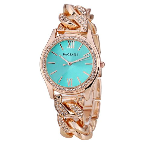 BSL915 BAOSAILI Brand Women Diamond Watches Stainless Steel Ladies Chain Wrist Watch Luxury