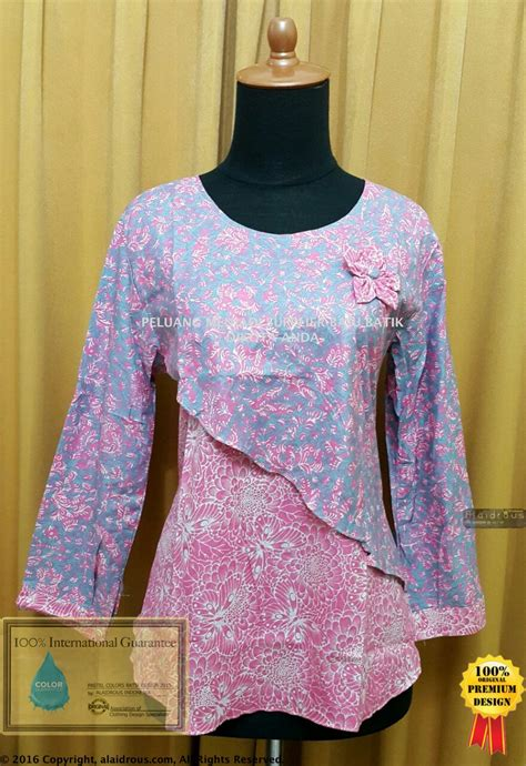 Tunik Baju Menyusui Dress Tunik Batik Kain Katun baju batik tunik pastel colors asli no kw best seller supplier grosir baju muslim gamis