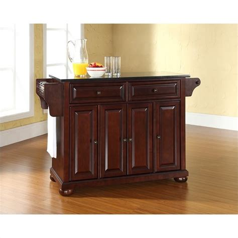 mahogany kitchen island crosley furniture alexandria black granite top mahogany kitchen island kf30004ama
