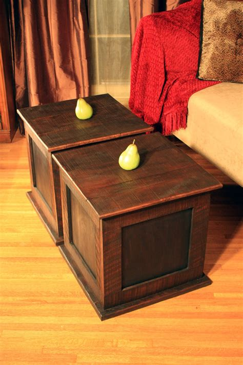 Storage Cube Coffee Table Storage Cube Coffee Table Reclaimed Wood Rustic