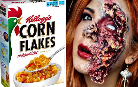 zombie skin tutorial diy rotten zombie skin using cornflakes halloween