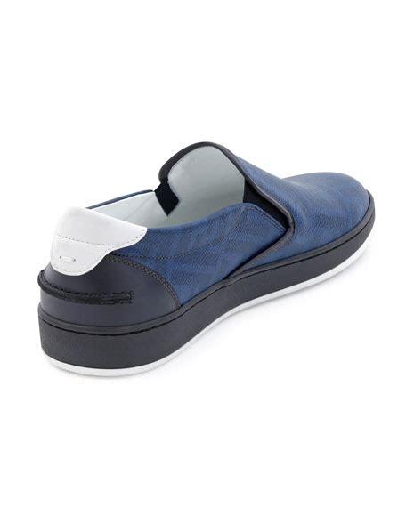 Slip On Fendi 2456 W fendi wimbledon leather slip on blue