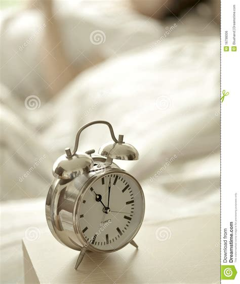 bed clock alarm clock in bedroom stock photo image of easy stay