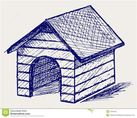 dog house sketch dog house doodle style stock photos image 27927623