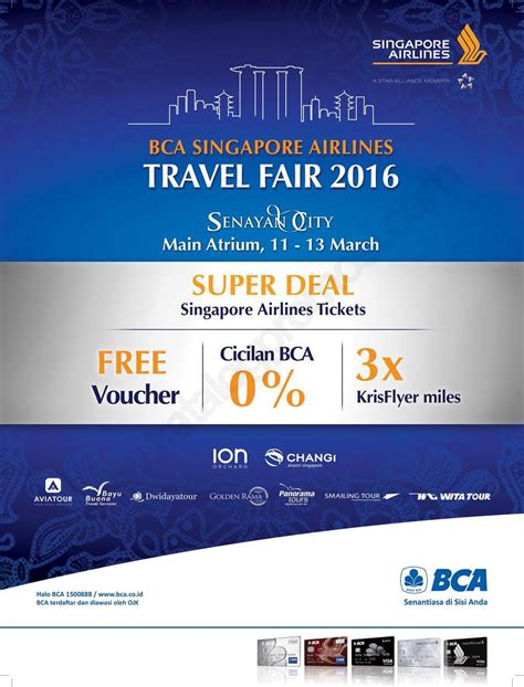 bca singapore airlines bca singapore airlines travel fair 2016 di senayan city
