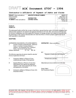 21 Printable Construction Contract Template Free Download Forms Fillable Sles In Pdf Word Aia G706a Template